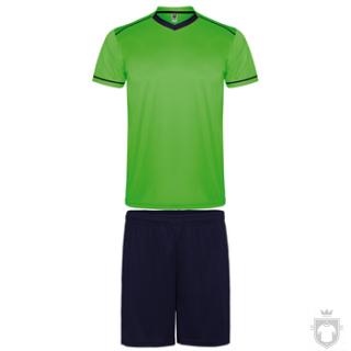 Equipaciones Roly United K color Fluor green / Navy :: Ref: 22255