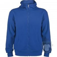 Sudaderas Roly Montblanc M Capucha Cremallera color Royal blue :: Ref: 05