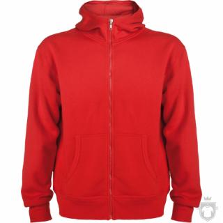 Sudaderas Roly Montblanc M Capucha Cremallera color Red :: Ref: 60