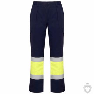 Pantalones Roly Soan color Navy / Fluor yellow :: Ref: 55221