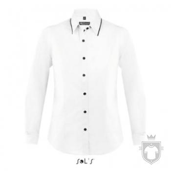 Camisas Sols Baxter W color White  - Black :: Ref: 906