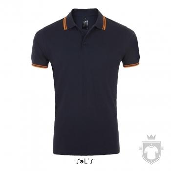 Polos Sols Pasadena Tallas grandes color French navy / Neon orange :: Ref: 535