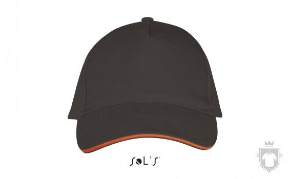 Gorras Sols Long Beach color Dark grey / Orange :: Ref: 799