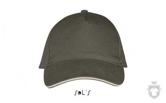 Gorras Sols Long Beach color Army - Beige :: Ref: 915