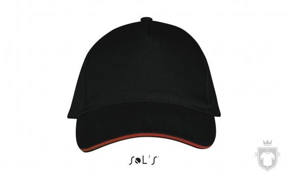 Gorras Sols Long Beach color Black / Red :: Ref: 917