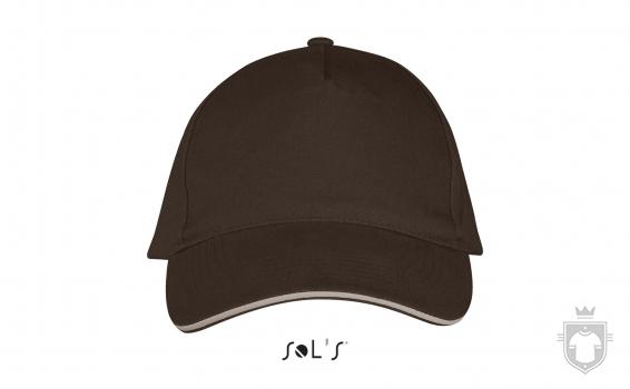 Gorras Sols Long Beach color Chocolate - Beige :: Ref: 921