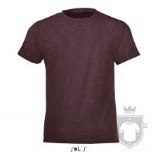 Camisetas Sols Regent FIT Kids color Heather oxblood :: Ref: 148