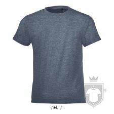 Camisetas Sols Regent FIT Kids color Heather denim :: Ref: 222