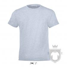 Camisetas Sols Regent FIT Kids color Azul cielo jaspeado :: Ref: 258