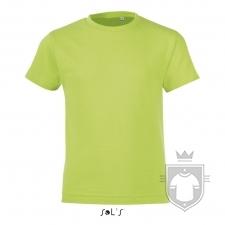 Camisetas Sols Regent FIT Kids color Apple Green :: Ref: 280