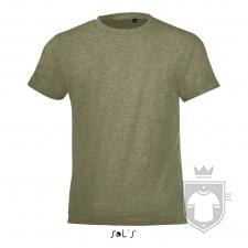 Camisetas Sols Regent FIT Kids color Heather khaki :: Ref: 288