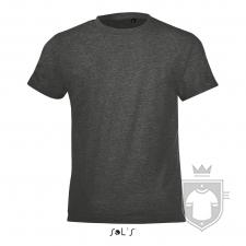 Camisetas Sols Regent FIT Kids color Charcoal melange :: Ref: 348