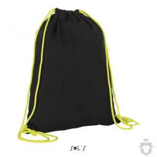 Bolsas Sols District color Black - Neon lime :: Ref: 886