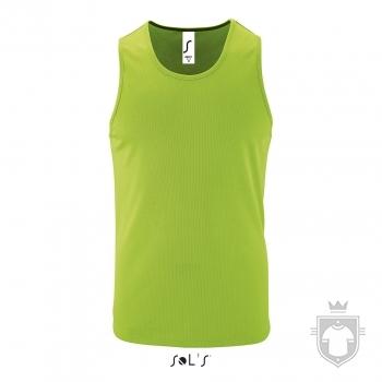 Camisetas Sols Sporty Tirantes color Neon green :: Ref: 286