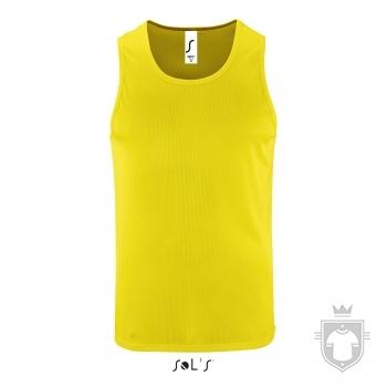 Camisetas Sols Sporty Tirantes color Yellow Neon :: Ref: 306