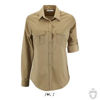 Camisas Sols Burma W color Castaño :: Ref: 111
