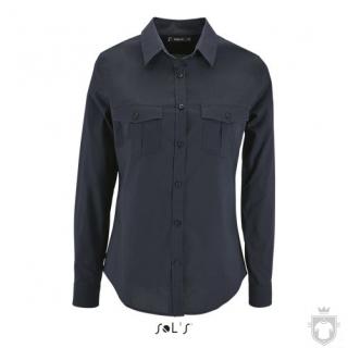 Camisas Sols Burma W color Dark Blue :: Ref: 228