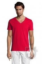 Camisetas Sols Master   cuello v color Red :: Ref: 145