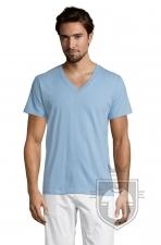 Camisetas Sols Master   cuello v color Sky Blue :: Ref: 220