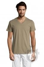 Camisetas Sols Master   cuello v color Khaki :: Ref: 268