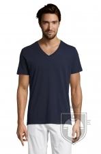 Camisetas Sols Master   cuello v color French Navy :: Ref: 319