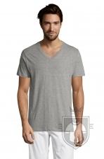 Camisetas Sols Master   cuello v color Grey Melange :: Ref: 350