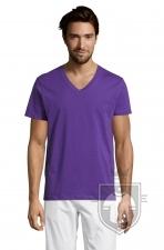 Camisetas Sols Master   cuello v color Dark Purple :: Ref: 712