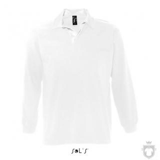 Polos Sols Pack m manga larga color White :: Ref: 102
