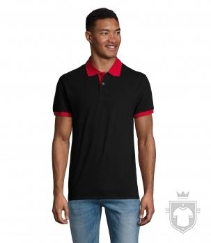Polos Sols Prince color Black / Red :: Ref: 917