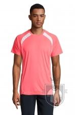Camisetas Sols Match color Neon Coral :: Ref: 153