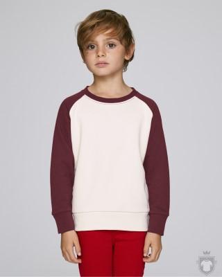 Sudaderas Stanley/Stella Scouts Contrast Kids color Vintage White/Burgundy :: Ref: C882