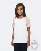 Camisetas Stanley/Stella Mini Jump K color White/Cream heather Pink/Flamingo Pink :: Ref: C994