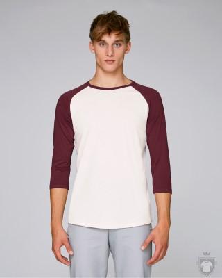 Camisetas Stanley/Stella Baseball color Vintage White/Burgundy :: Ref: C882
