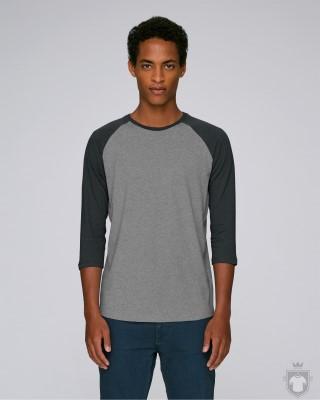 Camisetas Stanley/Stella Baseball Heather color Mid H.Grey/Dark H.Grey :: Ref: C889