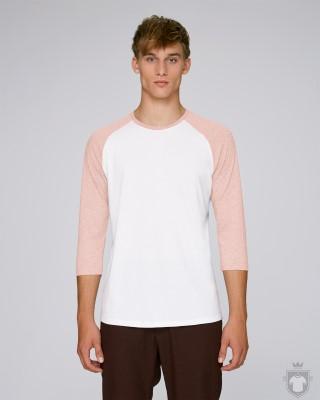 Camisetas Stanley/Stella Baseball Heather color White/Cream Heather Pink :: Ref: C893