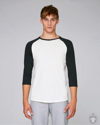 Camisetas Stanley/Stella Baseball color White/Black :: Ref: C895
