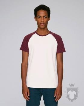 Camisetas Stanley/Stella Baseball Short Sleeve color Vintage White/Burgundy :: Ref: C882