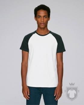 Camisetas Stanley/Stella Baseball Short Sleeve color White/Black :: Ref: C895
