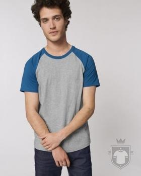 Camisetas Stanley/Stella Catcher Heather color Heather Grey/Royal Blue :: Ref: C969