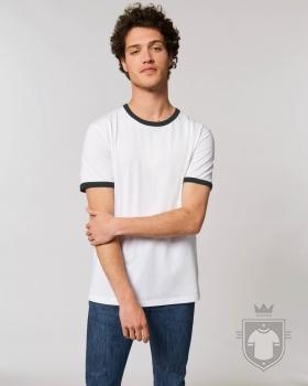 Camisetas Stanley/Stella Ringer color White/Black :: Ref: C895