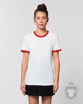 Camisetas Stanley/Stella Ringer color White/Bright Red :: Ref: C967