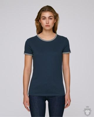 Camisetas Stanley/Stella Returns W color Navy/Mid Heather Grey :: Ref: C850