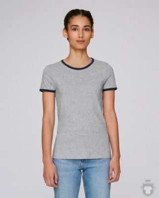 Camisetas Stanley/Stella Returns W color Heather Grey/French Navy :: Ref: C985