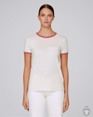 Camisetas Stanley/Stella Returns W color Cream Heather Grey/Heather Cranberry :: Ref: C995