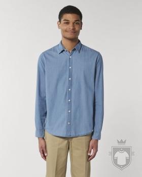 Camisas Stanley/Stella Innovates Denim color Light Indigo Denim :: Ref: C570