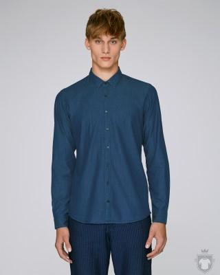 Camisas Stanley/Stella Innovates Denim color Mid Indigo Denim :: Ref: C571