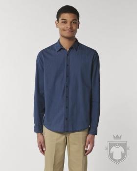 Camisas Stanley/Stella Innovates Denim color Dark Indigo Denim :: Ref: C572