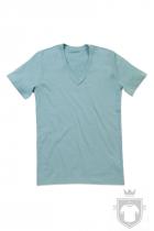 Camisetas Stedman James Organic V color Frosted Blue :: Ref: FRO