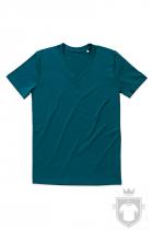 Camisetas Stedman James Organic V color Pacific Blue :: Ref: PAB