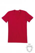 Camisetas Stedman James Organic V color Pepper Red :: Ref: PER